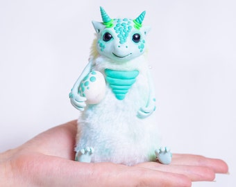 Dragon,  art doll  art toys  Fantasy animals  OOAK  Creatures Toy of polymer clay designer toy Collection doll