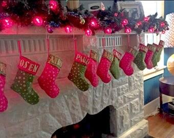 Set of 12 Mini Christmas Stockings DIY christmas stockings gift bags