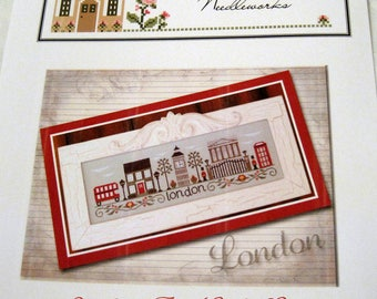 Afternoon in London Country Cottage Needleworks cross stitch pattern.