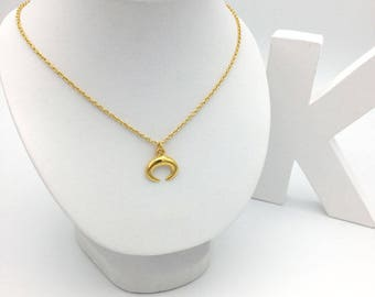 24K gold gold Horn necklace