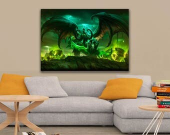 World of Warcraft: Legion Art Poster A1, A2, A3, A4 Sizes Matte, Glossy Paper
