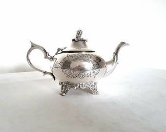 Beautiful Repousse Silver Georgian Style Teapot