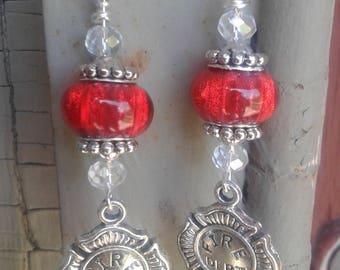Love a Fire Fighter Earrings