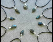 Mini LABRADORITE / Blue bleu Argent 925 / 1000