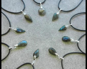 Mini LABRADORITE / Blue Blue Sterling Silver 925 / 1000