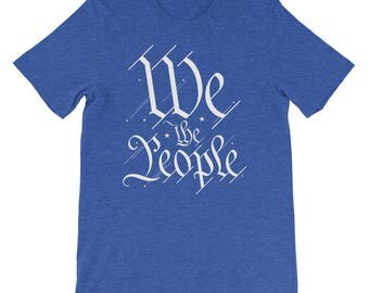 We the People T-Shirt | Patriotic | US Constitution | Unisex Gift Tee