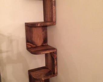 Serpentine Corner Shelf
