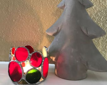 Candle Holder - Stained Glass - Indoor / Outdoor