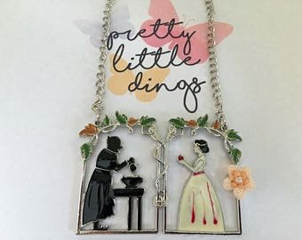 """Fairy necklace """"Snow white"""" – statement necklace"""