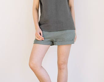 Linen pajama set / Sleepwear set / Women's linen sleepwear