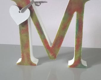 Hand Painted Wooden Freestanding Initial