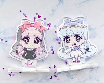 Mari + Jess Kawaii Idol Magical Girl Original Character Chibi Anime Lolita Fashion Clear Acrylic Standee Stands