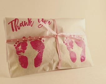 10 Twin Girls Shower Favors. White Paper Favors. Fresh Roasted Coffee Favors. Embossed Favors. Handmade Baby Shower. Baby Love
