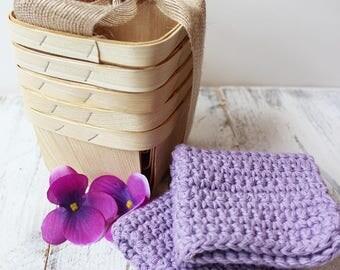 Handmade Lavender Washcloth
