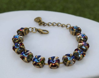 10mm Swarovski Crystal Bracelet - Bermuda Blue