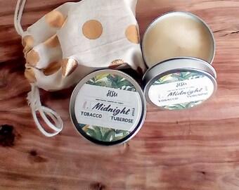 MIDNIGHT // Tobacco & Tuberose - 4oz. Candle Tin