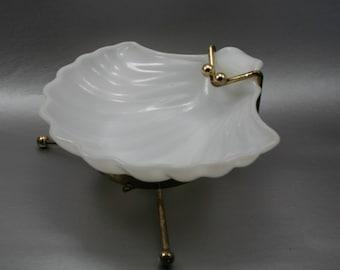 Porcelain Shell Soap Dish, Clawfoot Dish, Clawfoot Shell, Soap Favor, Bathroom Decor, Seashell Dish, White Bathroom Dish, Nautical Decor