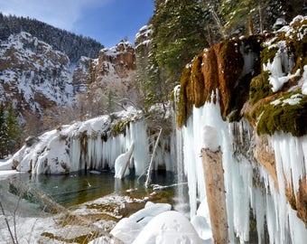 Frozen Hanging Lake
