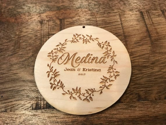 Personalized Engraved Wood Gift Card For Cutting Board, Monogrammed Wood Gift Tag, Keepsake Ornament, ADD-ON to existing unshipped order