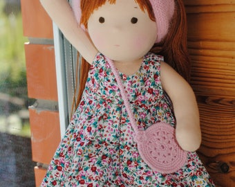 14 inch (36 cm) Waldorf doll. Steiner doll-cloth dolls handcrafted dolls-stuffed dolls work-Waldorf Toys