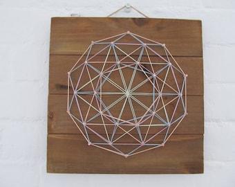Colorful Geometric String Art