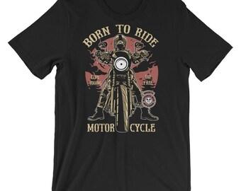 Born to Ride Motorcycle Short-Sleeve Unisex T-Shirt