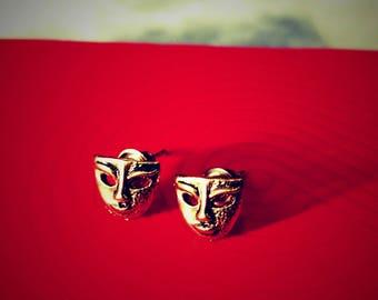 Mask face earrings
