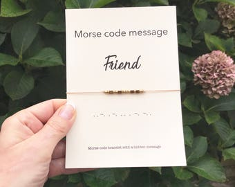 Best friend gifts, Morse code bracelet, Friend birthday gifts, Bff bracelet, Friendship bracelet, Friend bracelet, Best friend bracelet, A80