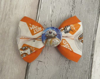 Star Wars BB8 Dog Double Bow Tie, Dog clothing, Doggy Bow Tie, Puppy Bow Tie, Detachable Bow Tie, Slip on bow tie