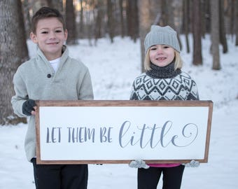 Playroom Sign | Playroom Wall Decor | Let Them be Little Sign | Kids Room Signs