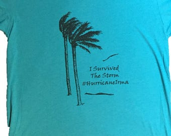 I Survived The Storm #HurricaneIrma Men's T-shirt//original artwork//DTG printing #Hurricane #Irma