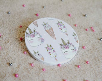 Unique Unicorn Pocket Mirror ~ Kawaii, Cute, Stylish