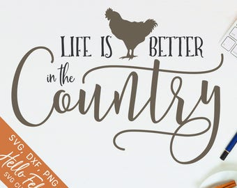 Country life svg | Etsy