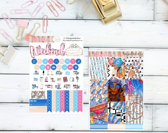 Boho Vibes FullKit/ Planner Stickers/ ECLP