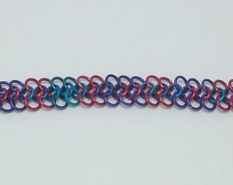 Multicolor Chain Maille Bracelet (4-in-1)
