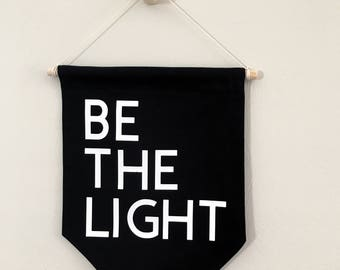Be the light wall banner