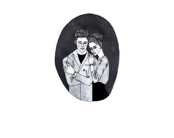 couples portrait | custom illustration