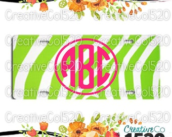 Monogrammed License Plate/ Personalized License Plate/Monogram Car License Plate/Monogram Gift/Plastic Monogrammed License Plate