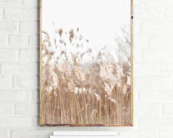 Landscape printable art, reed print, landscape print, reed photography, instant download, landscape poster, reed poster, wall art