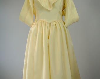 1980s Gunne Sax Party Dress // Vintage Off The Shoulder Dress // Bohemian Dress // Romantic Dress // Boho Party Dress // 1980s Dress