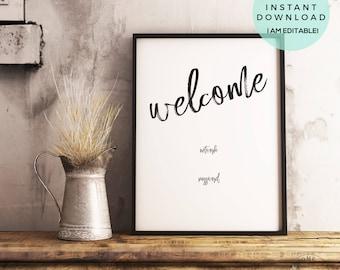 Welcome Wifi Sign | Wedding Welcome Sign | Wifi Password Printable | Printable Wifi Sign | Wifi Welcome | Wedding Welcome Printable, Welcome