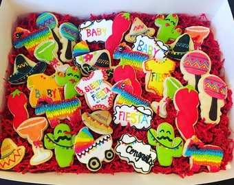 FIESTA Baby Shower Sugar Cookies