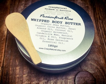 Whipped Body Butter. Organic Butters. Nourishing. Body Moisturizer. Vegan. Natural. Essential Oil. 180gr