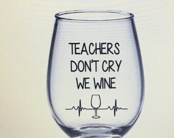 Teacher wine glass. Teacher gift. Best teach gift. Keep your apple I'd rather have wine. Teaching is a work of heart. Teaching superpower