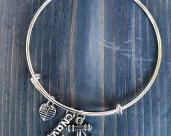 NAVY, US Navy Bangle Charm Bracelet, Anchor , Made In America, US Military, Naval Support, Support Our Troops
