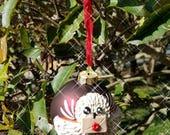 Hogwarts Owl Christmas Ornament — Polymer Clay Owl Christmas Ornament — Hogwarts Letter Delivery — Snowy Owl — Hedwig Ornament —Secret Santa