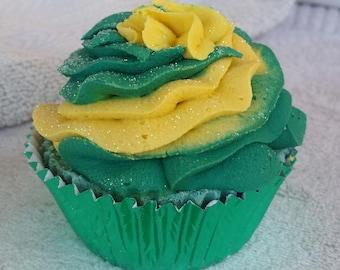 Bath Bomb Cupcake,  Yellow Brick Road,  Luxury Bath Bomb, Wizard Of Oz Bath Bomb, For Her, Bubble Bar, Bath Fizzy, Shower Favors, Sensual