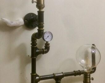 Wall light fixture industrial Steampunk