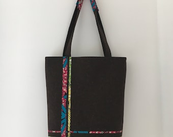 Reversible Tote Bag in Ankara & Felt #6