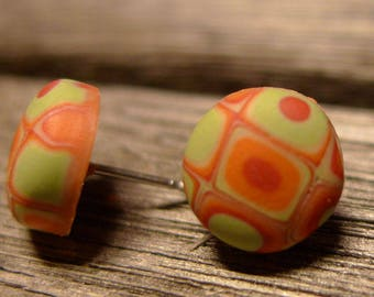 retro chic - stud earrings - handmade with love